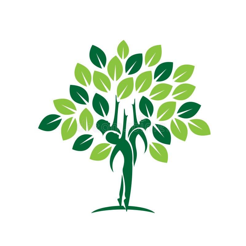 Ícone da árvore da folha da família ilustração do vetor