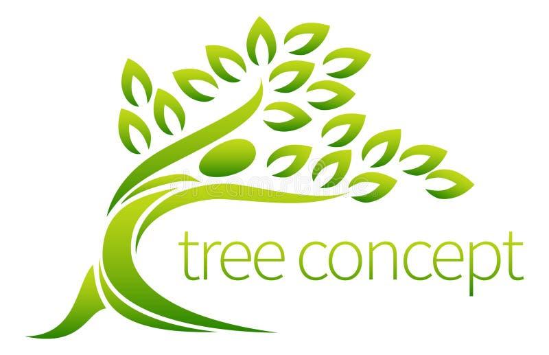 Ícone da árvore da pessoa ilustração royalty free