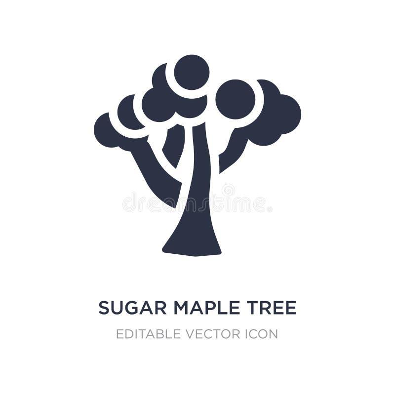 ícone da árvore de bordo do açúcar no fundo branco Ilustração simples do elemento do conceito da natureza ilustração stock