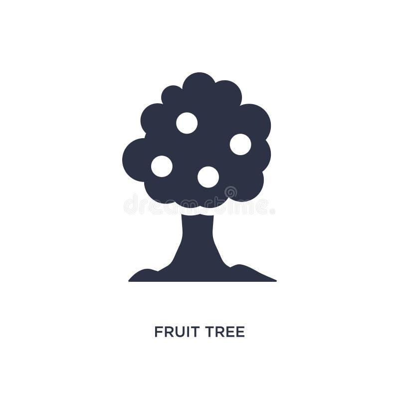 ícone da árvore de fruto no fundo branco Ilustração simples do elemento do conceito da ecologia ilustração do vetor