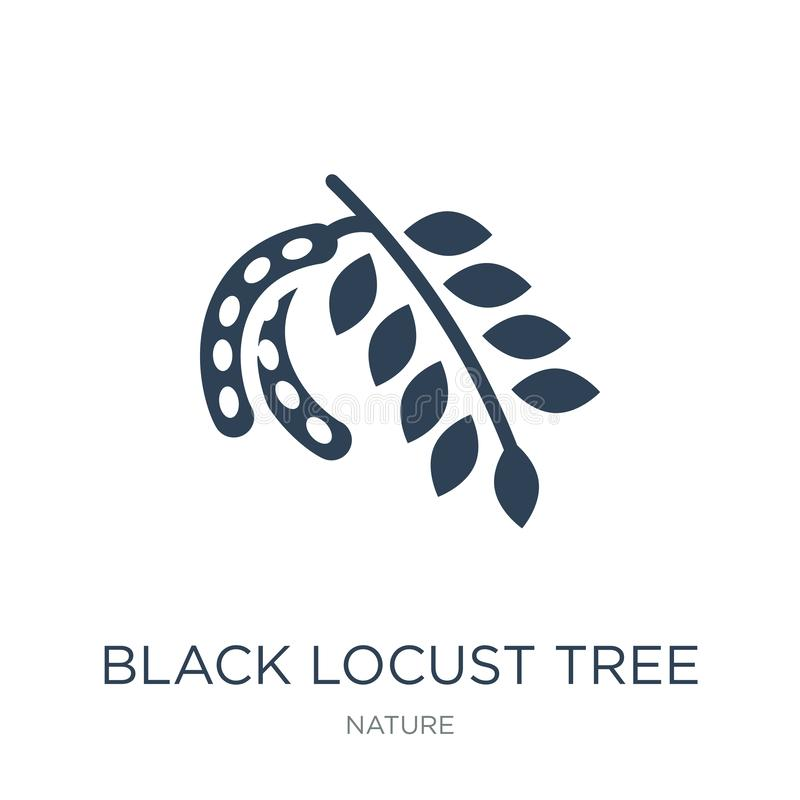 ícone da árvore de locustídeo pretos no estilo na moda do projeto ícone da árvore de locustídeo pretos isolado no fundo branco íc ilustração stock