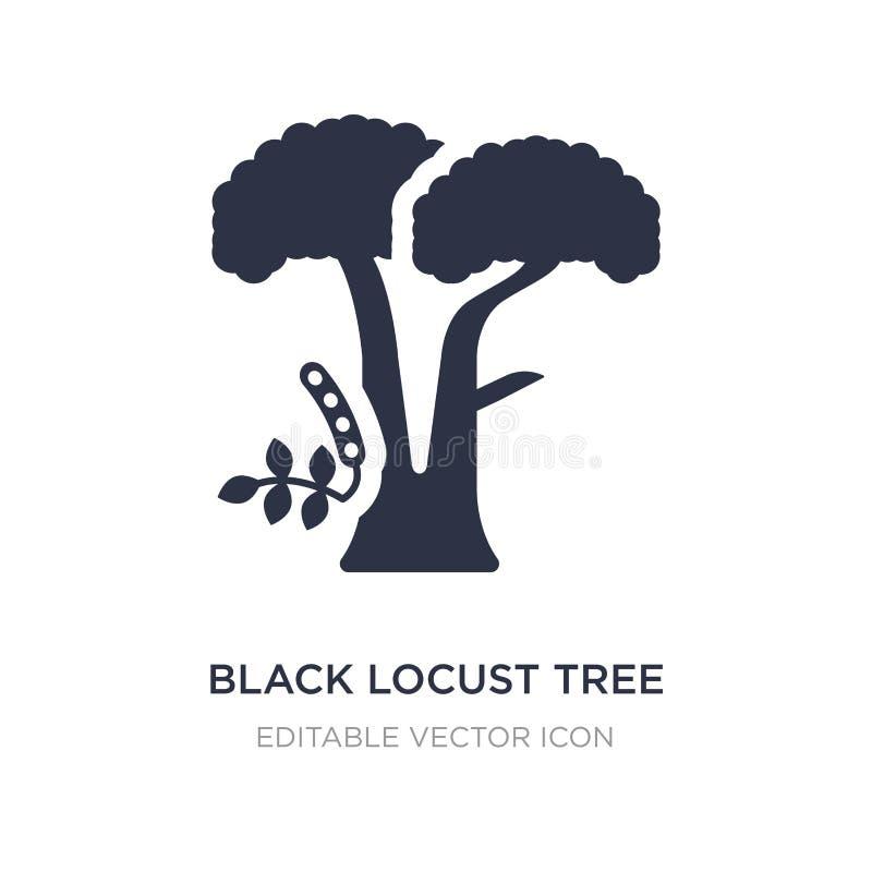 ícone da árvore de locustídeo pretos no fundo branco Ilustração simples do elemento do conceito da natureza ilustração royalty free