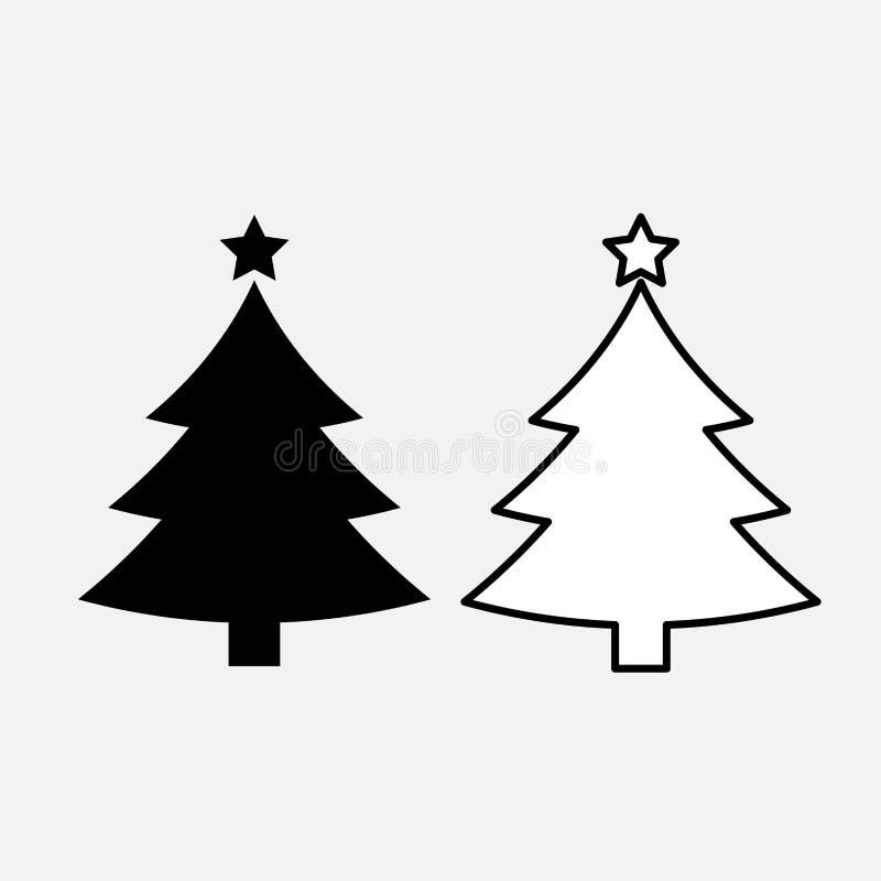 Ícone da árvore de Natal ilustração royalty free