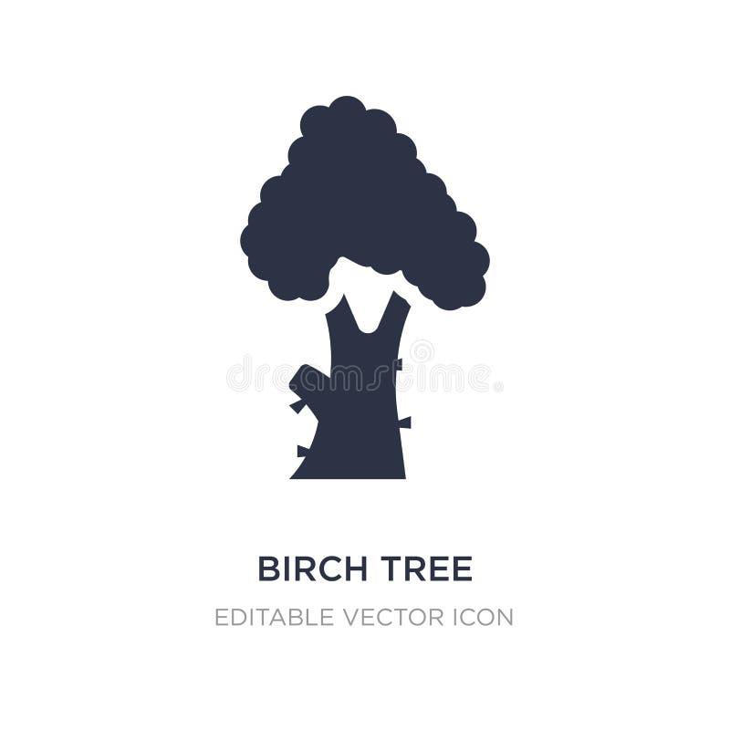 ícone da árvore de vidoeiro no fundo branco Ilustração simples do elemento do conceito da natureza ilustração royalty free