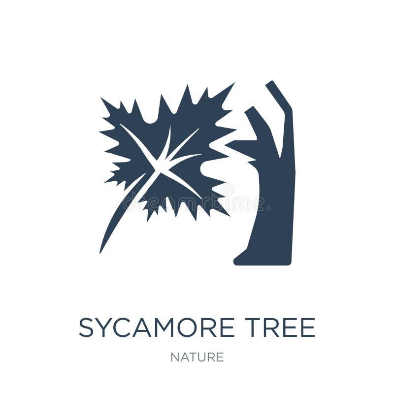 ícone da árvore do sicômoro no estilo na moda do projeto ícone da árvore do sicômoro isolado no fundo branco ícone do vetor da ár ilustração royalty free