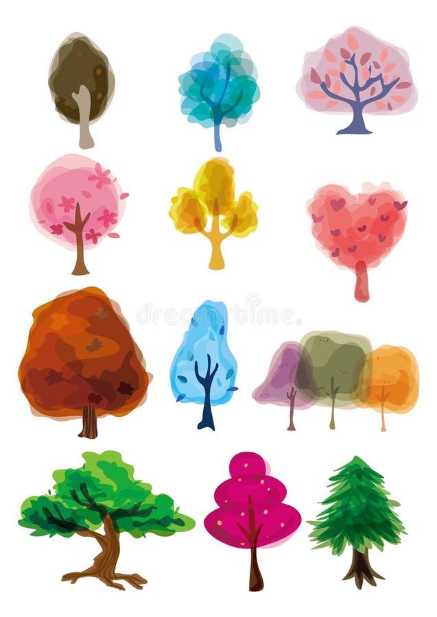 Ícone da árvore dos desenhos animados ilustração do vetor
