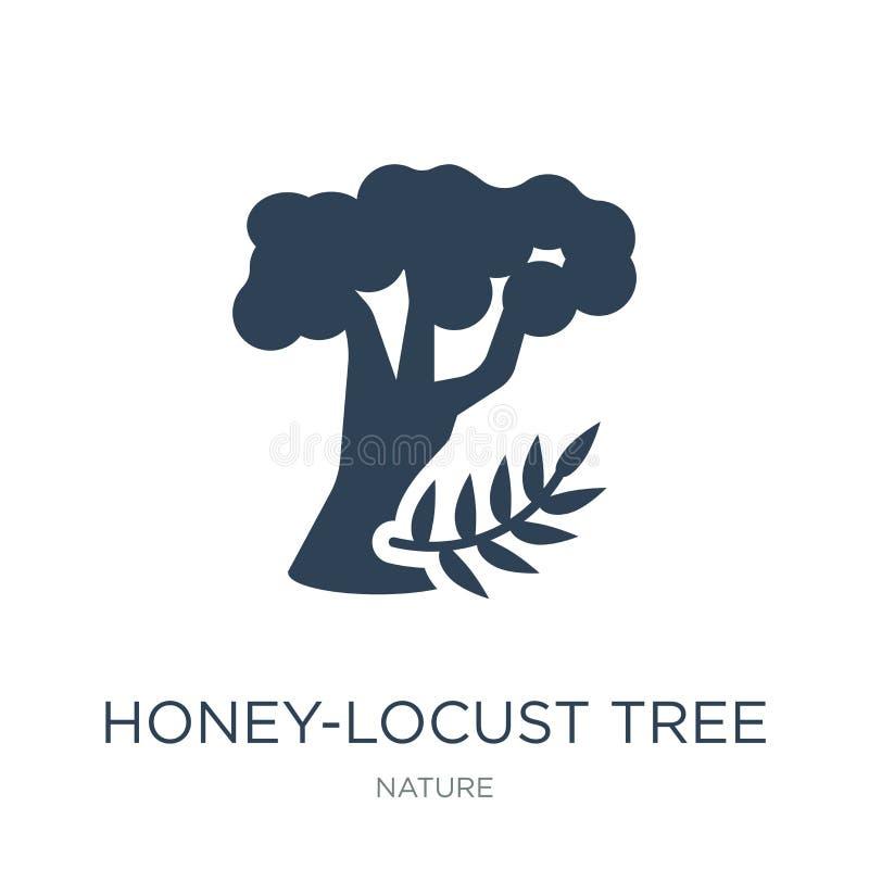 ícone da árvore dos mel-locustídeo no estilo na moda do projeto ícone da árvore dos mel-locustídeo isolado no fundo branco ícone  ilustração stock
