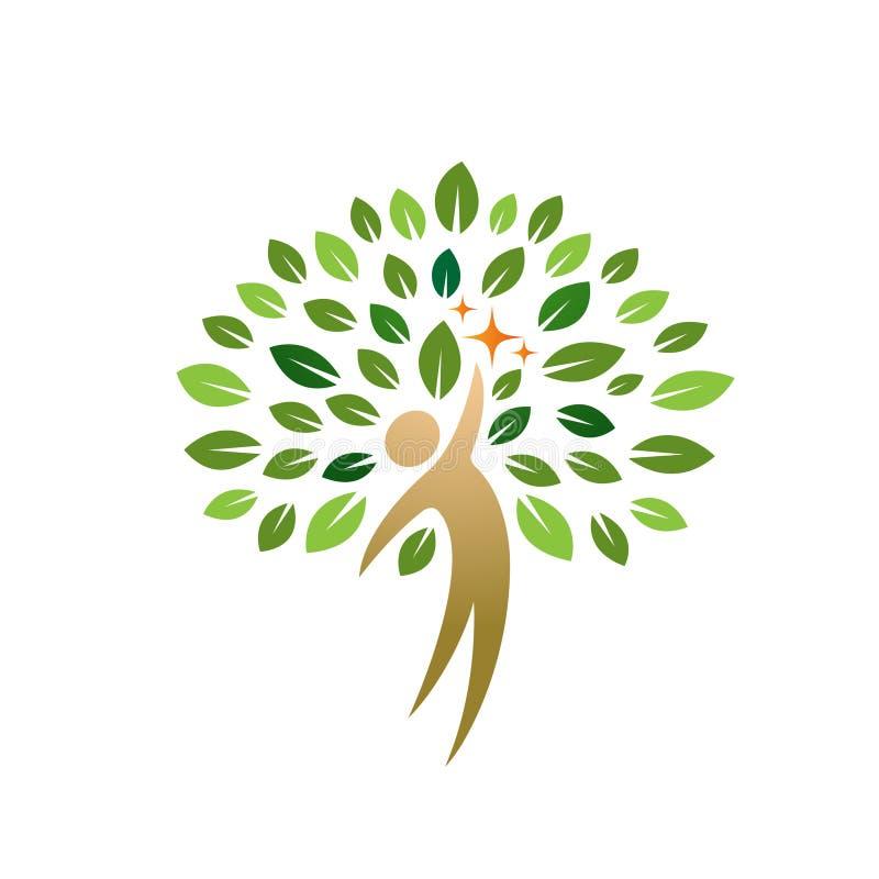 Ícone da árvore dos povos ilustração do vetor