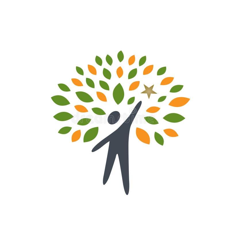Ícone da árvore dos povos da estrela ilustração royalty free