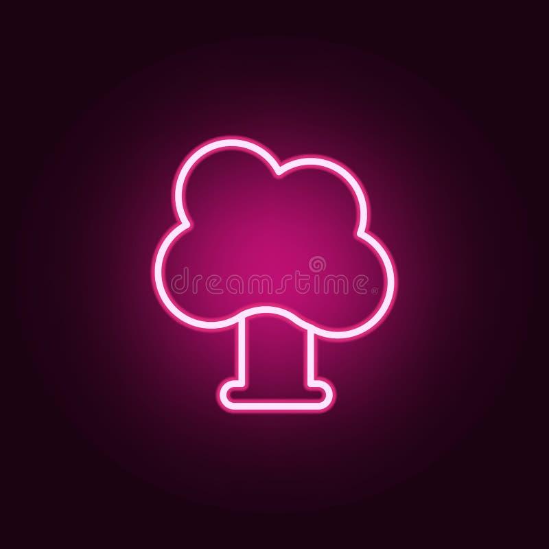 Ícone da árvore Elementos da Web nos ícones de néon do estilo Ícone simples para Web site, design web, app móvel, gráficos da inf ilustração do vetor