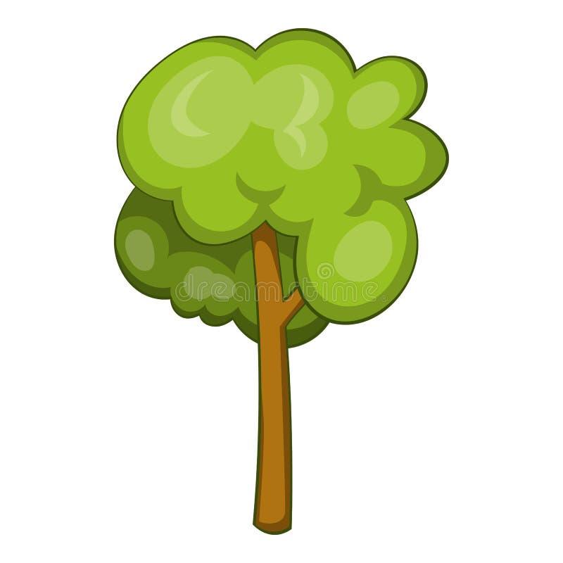 Ícone da árvore, estilo dos desenhos animados ilustração royalty free
