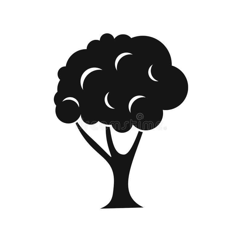 Ícone da árvore no estilo simples ilustração do vetor
