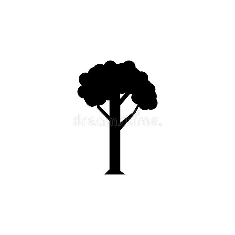 Ícone da árvore - sinal preto ilustração do vetor