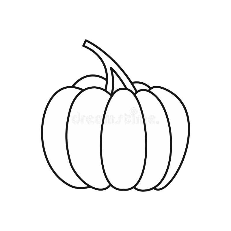 Ícone da abóbora de outono, estilo do esboço ilustração do vetor