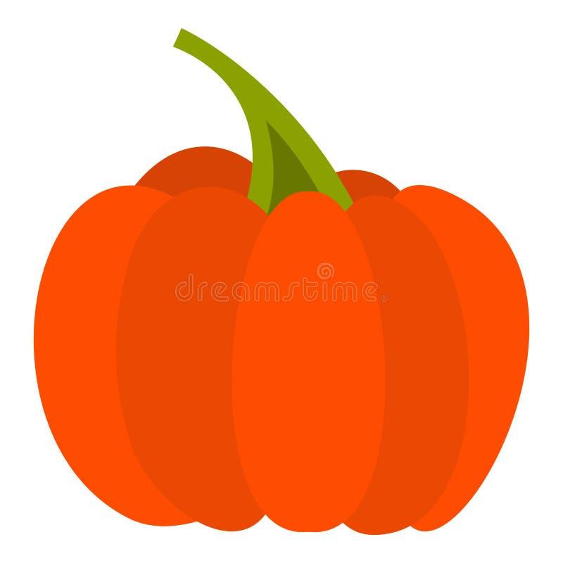 Ícone da abóbora de outono, estilo liso ilustração stock