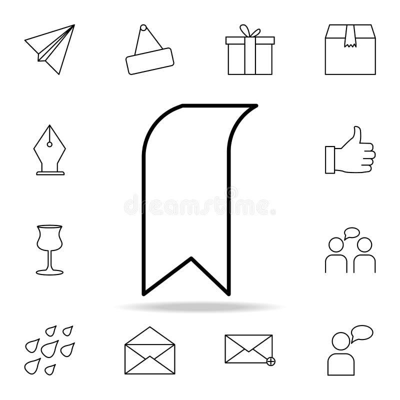 Ícone da aba Grupo detalhado de ícones simples Projeto gráfico superior Um dos ícones da coleção para Web site, design web, app m ilustração stock
