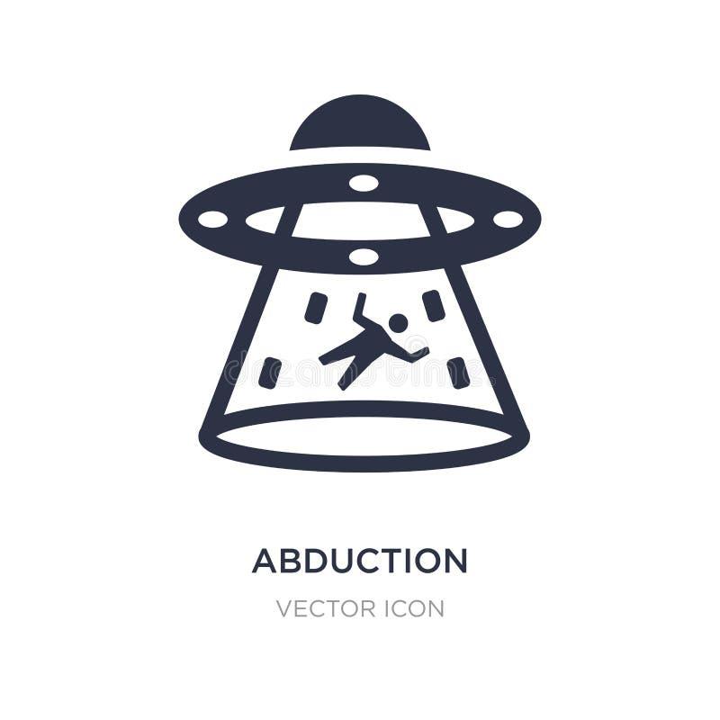 ícone da abducção no fundo branco Ilustração simples do elemento do conceito da astronomia ilustração do vetor