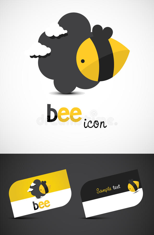 Ícone da abelha ilustração royalty free