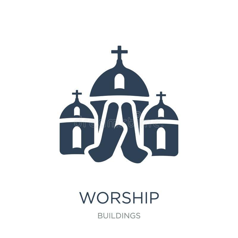 ícone da adoração no estilo na moda do projeto ícone da adoração isolado no fundo branco símbolo liso simples e moderno do ícone  ilustração do vetor