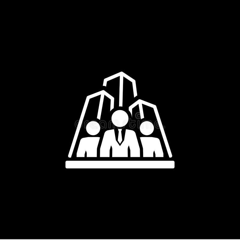 Ícone da agência de segurança Projeto liso ilustração stock