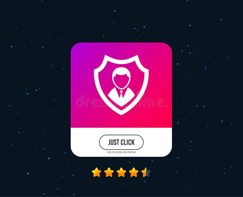 Ícone da agência de segurança Símbolo da proteção do protetor Vetor ilustração royalty free
