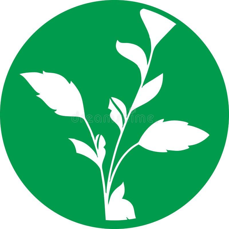 Ícone da agricultura com círculo verde para indústrias fotos de stock