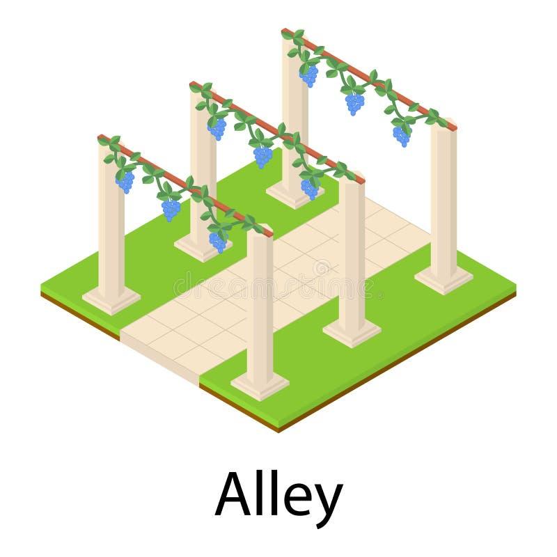 Ícone da aleia, estilo isométrico ilustração royalty free