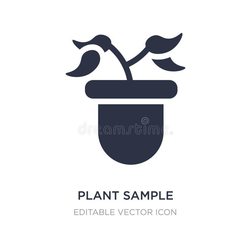 ícone da amostra da planta no fundo branco Ilustração simples do elemento do conceito da educação ilustração royalty free