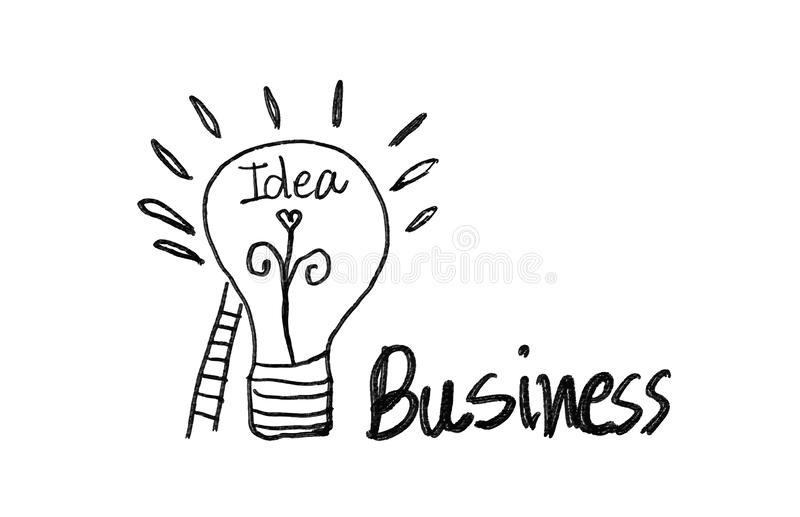 Ícone da ampola com ilustração do vetor da escadaria, conceito criativo da ideia do negócio ilustração royalty free