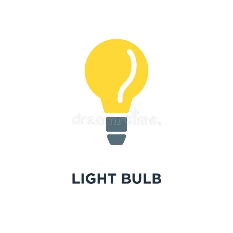 Ícone da ampola conceito da ideia, desig do símbolo do conceito do poder da energia ilustração do vetor