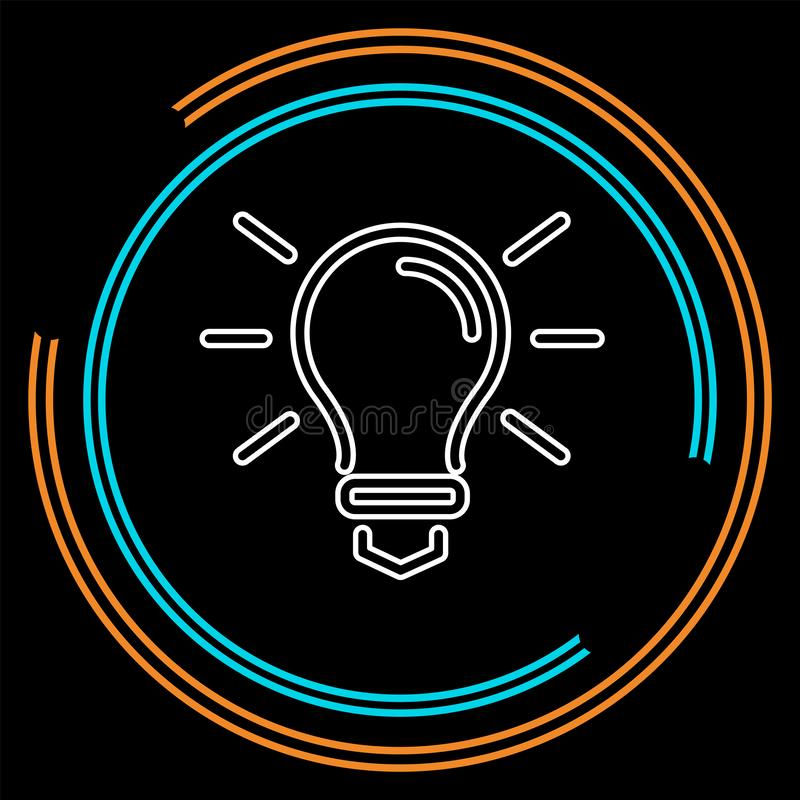 Ícone da ampola do vetor - conceito da ideia, símbolo do poder da energia ilustração do vetor