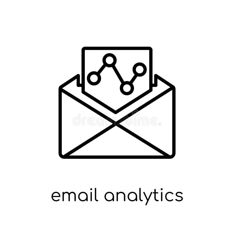 Ícone da analítica do e-mail E-mail linear liso moderno na moda Ana do vetor ilustração do vetor