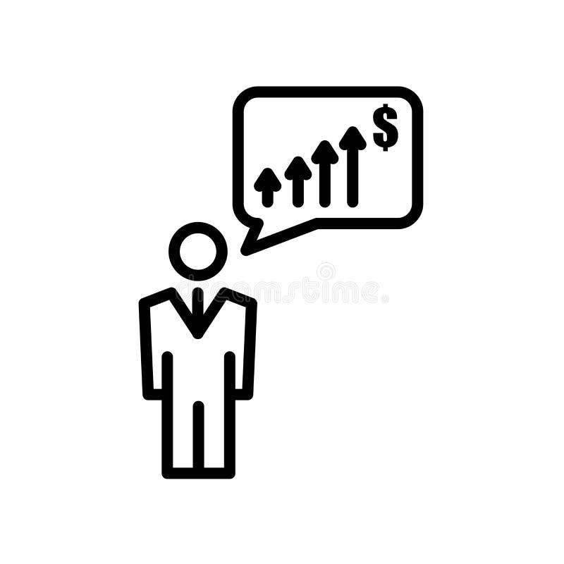 ícone da antecipação isolado no fundo branco ilustração royalty free