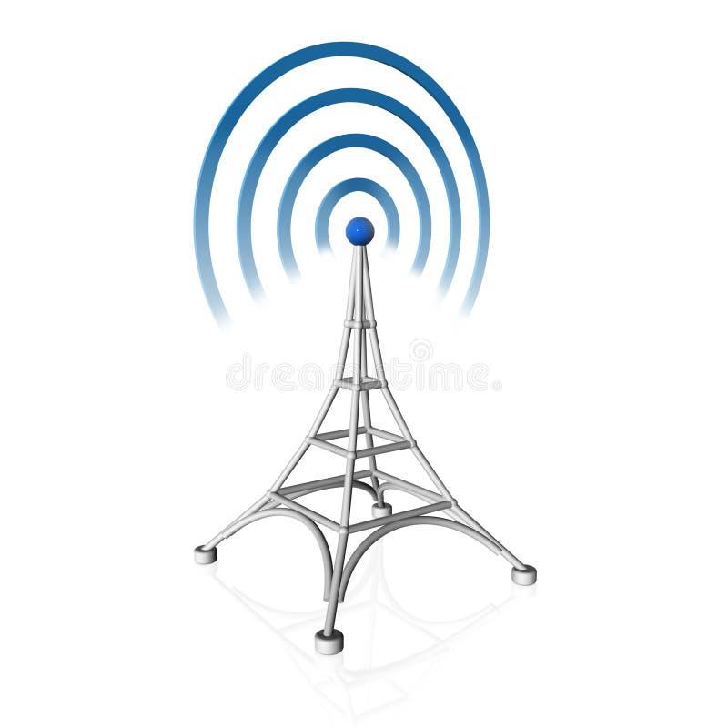 Ícone da antena ilustração stock