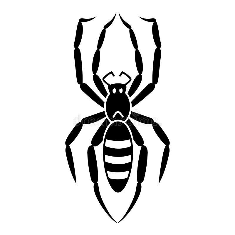 Ícone da aranha de Caterpillar, estilo simples ilustração do vetor