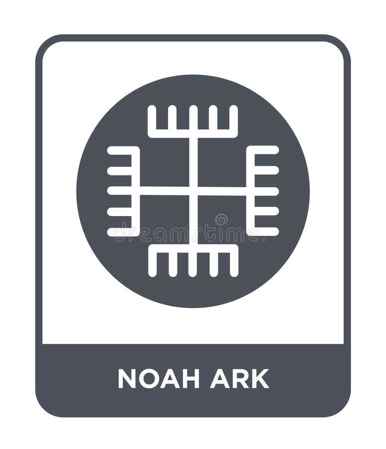 ícone da arca de noah no estilo na moda do projeto ícone da arca de noah isolado no fundo branco plano simples e moderno do ícone ilustração royalty free