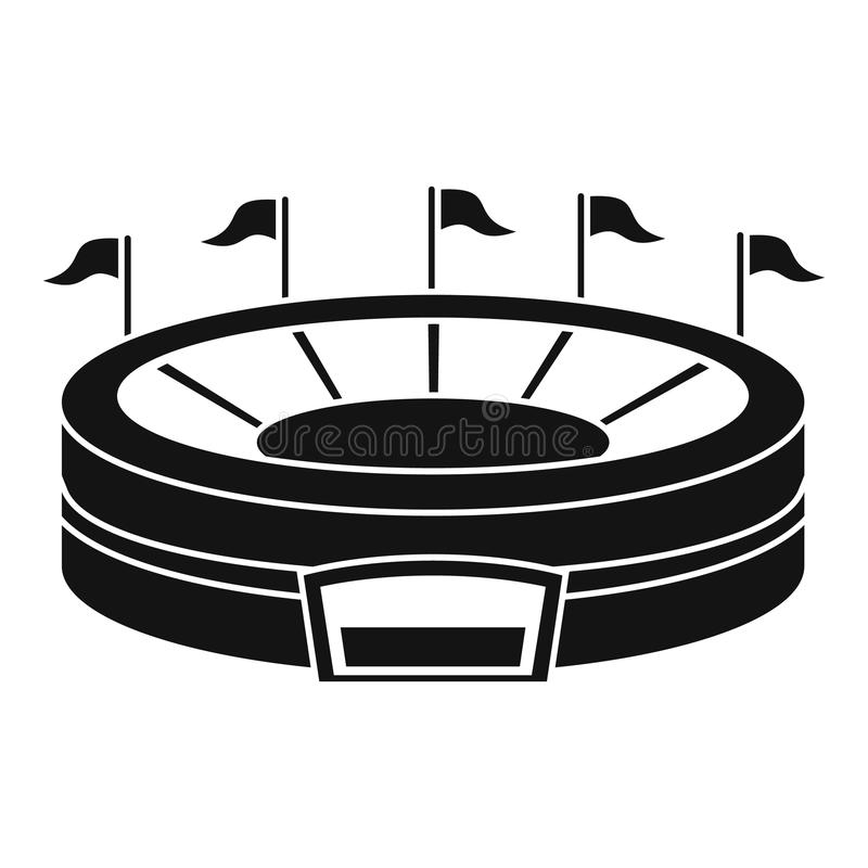 Ícone da arena do basebol, estilo simples ilustração stock
