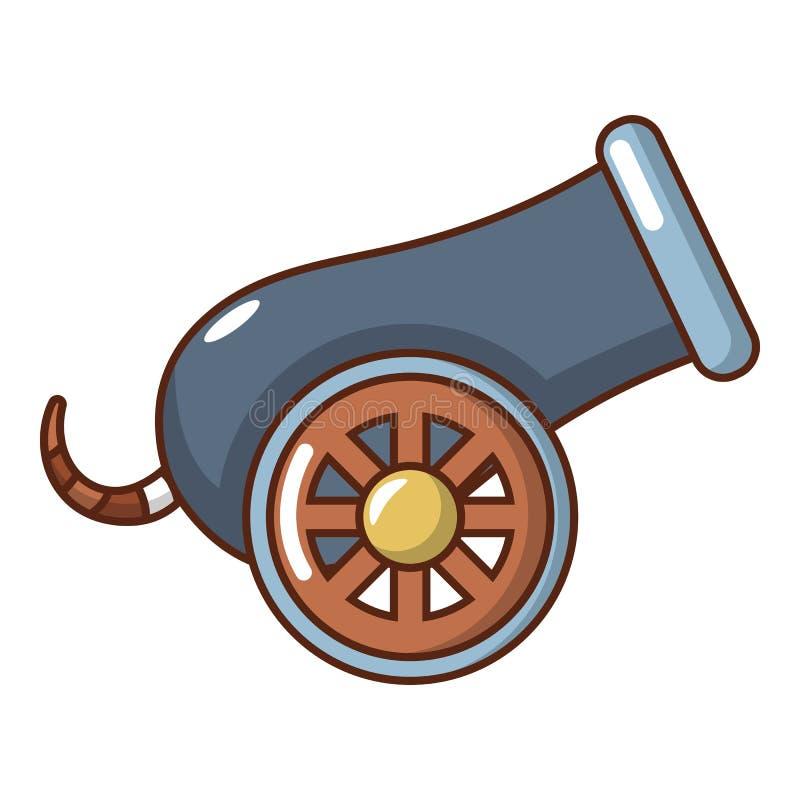 Ícone da arma antiaérea, estilo dos desenhos animados ilustração do vetor