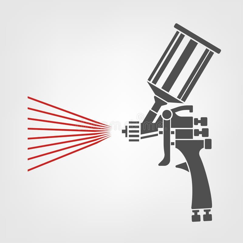 Ícone da arma de pulverizador ilustração royalty free