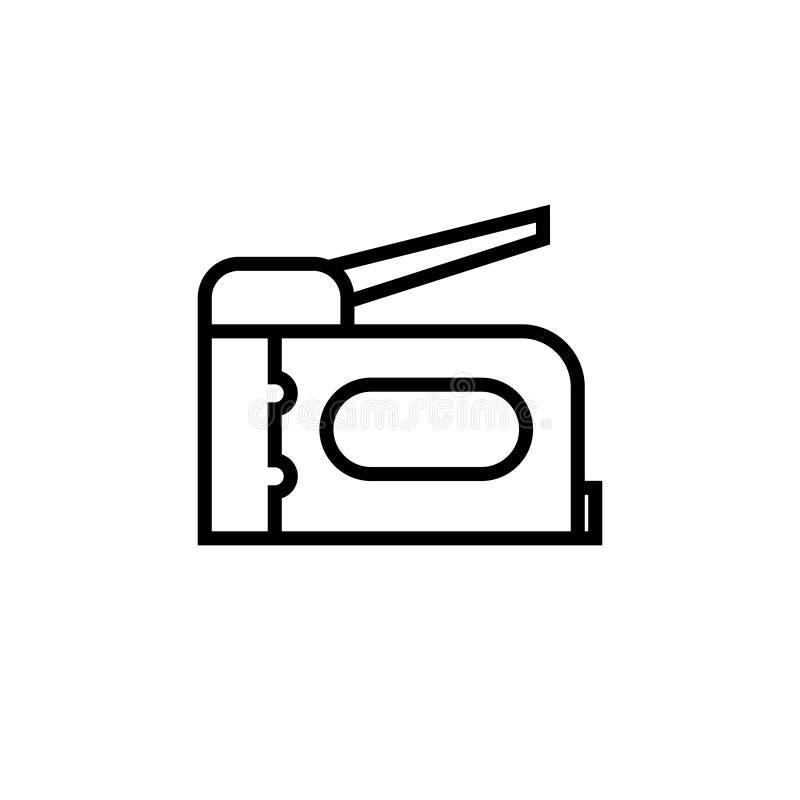 Ícone da arma do grampo ilustração royalty free