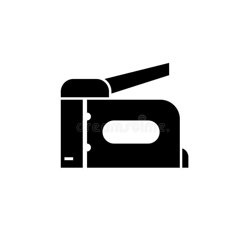 Ícone da arma do grampo ilustração do vetor