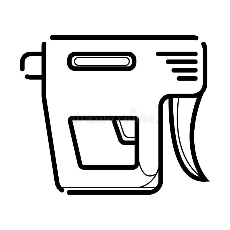 Ícone da arma do prego ilustração stock