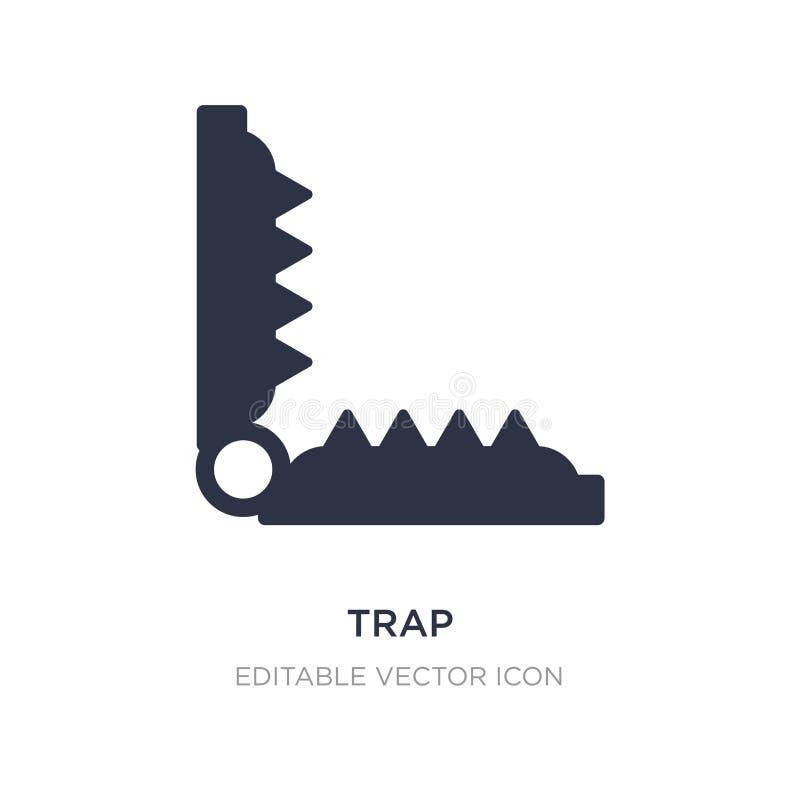 ícone da armadilha no fundo branco Ilustração simples do elemento do conceito dos animais ilustração do vetor