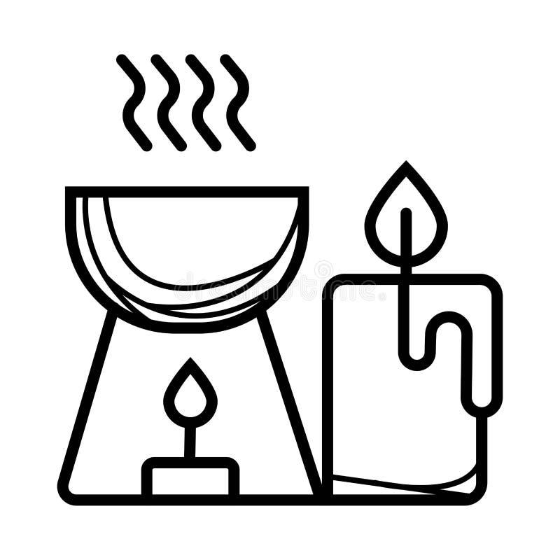 Ícone da aromaterapia ilustração do vetor