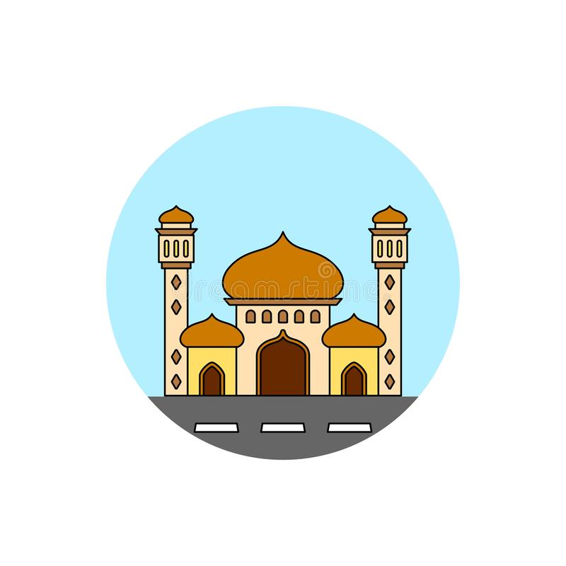 Ícone da arquitetura da cidade da construção da mesquita ilustração royalty free