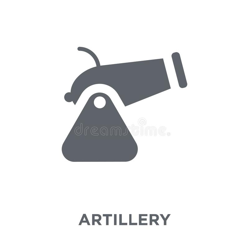 ícone da artilharia da coleção do exército ilustração stock