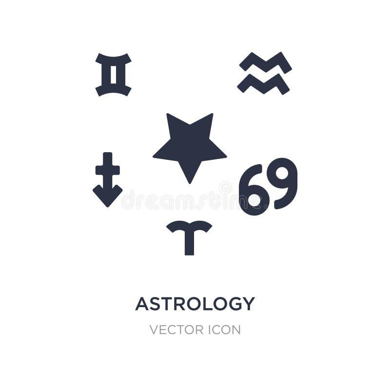 ícone da astrologia no fundo branco Ilustração simples do elemento do conceito da astronomia ilustração stock