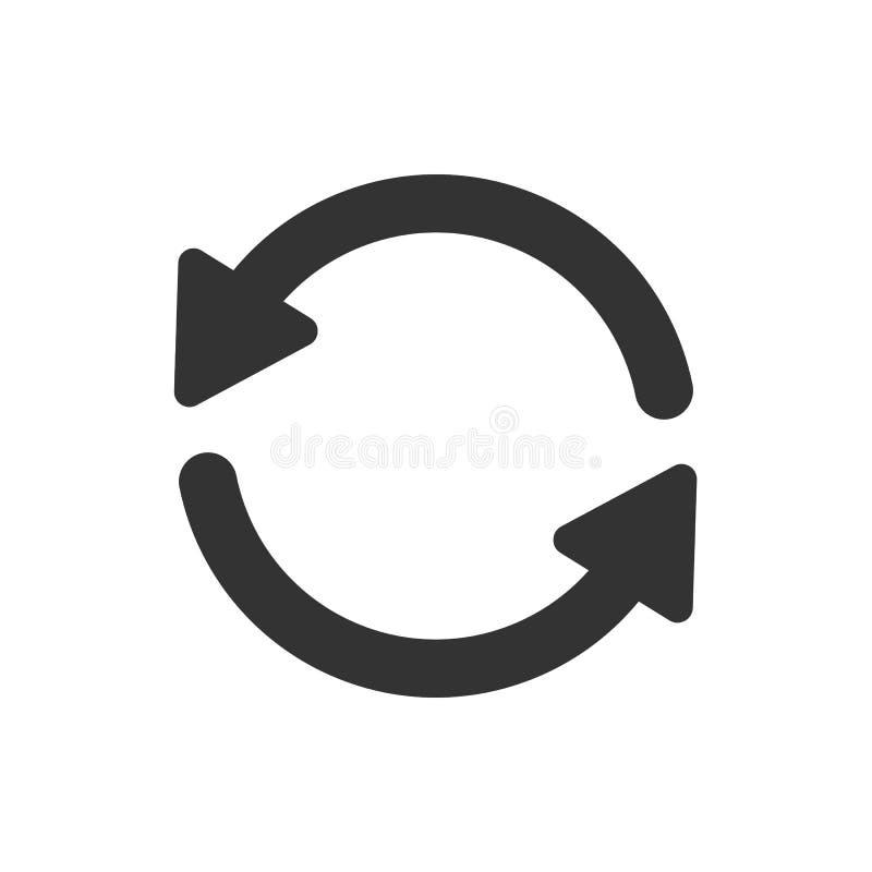 Ícone da atualização isolado no branco ilustração do vetor