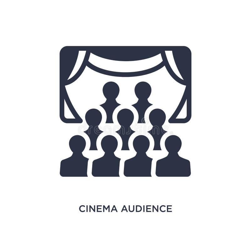 ícone da audiência do cinema no fundo branco Ilustração simples do elemento do conceito do cinema ilustração do vetor