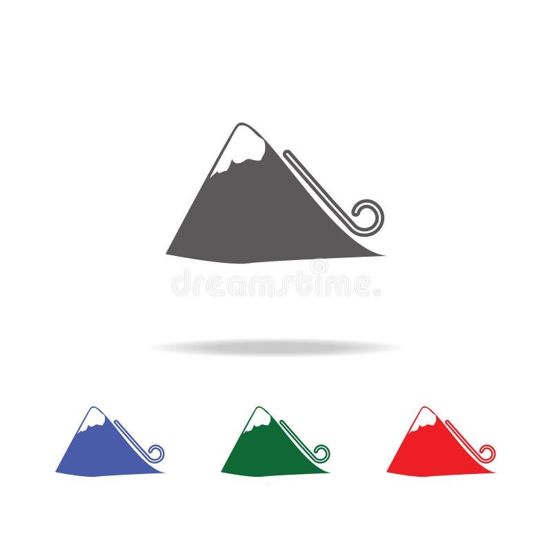 Ícone da avalancha Elementos de multi ícones coloridos do desister Ícone superior do projeto gráfico da qualidade Ícone simples p ilustração royalty free
